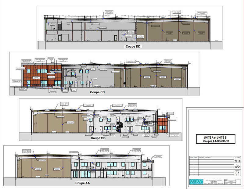 Les plans d 39 architecte architecte de b timents for Coupe verticale d un batiment