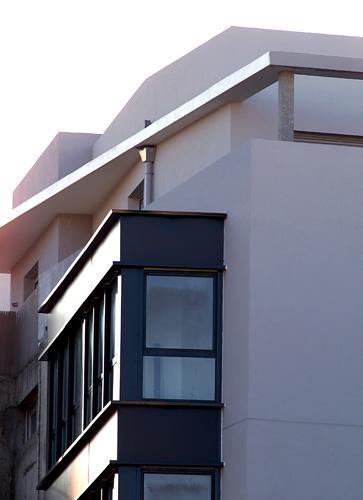 Balcon avec auvent