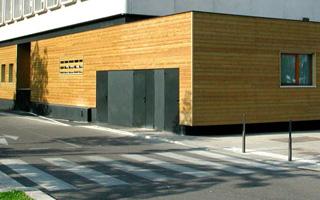 Extension rectangulaire avec bardée de bois
