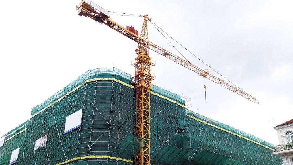 Chantier de construction d'un bâtiment
