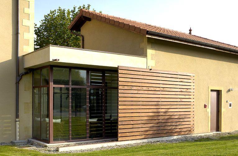 Architecture ext rieure et int gration au site photos for Panneau coulissant exterieur